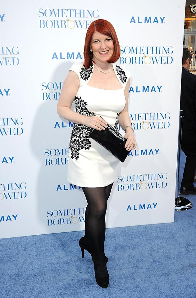"""<a href=""""http://movies.yahoo.com/movie/contributor/1809019783"""">Kate Flannery</a> attends the Los Angeles premiere of <a href=""""http://movies.yahoo.com/movie/1810158033/info"""">Something Borrowed</a> on May 3, 2011."""