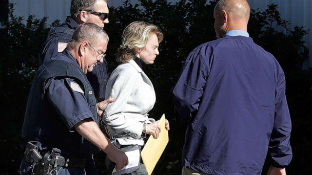PHOTO:Michelle Carter, center, is escorted to a parole hearing, Sept. 19, 2019, in Natick, Mass. (Steven Senne/AP)