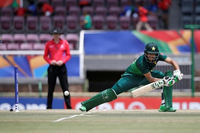 Teenage batsman Haider Ali failed a second coronavirus test and is one of 10 players left off Pakistan's squad for the tour of England (AFP Photo/Wikus DE WET)