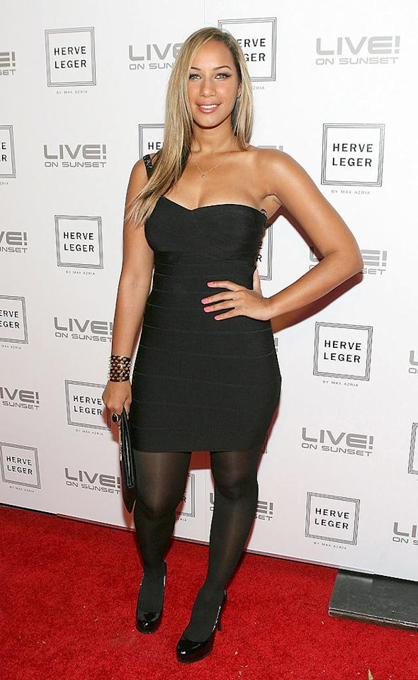 "Leona Lewis punched up her LBD look with a studded cuff and sleek straight hair. Jesse Grant/<a href=""http://www.wireimage.com"" target=""new"">WireImage.com</a> - May 6, 2009"