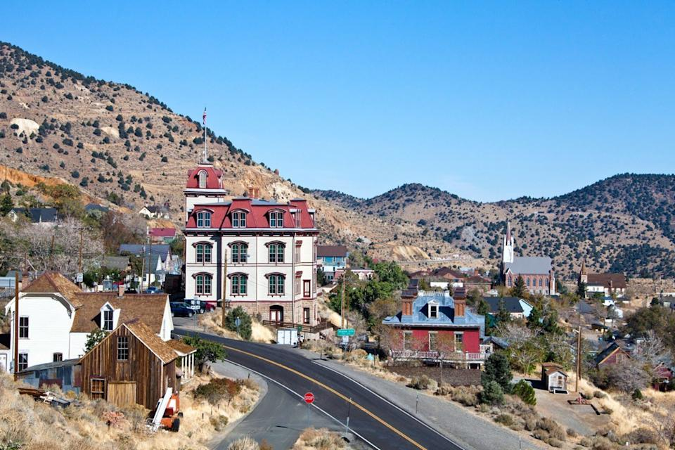 view of a mountain town in nevada