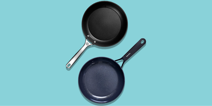 """<p>While <a href=""""https://www.goodhousekeeping.com/cooking-tools/cookware-reviews/g5050/best-stainless-steel-cookware-sets/"""" rel=""""nofollow noopener"""" target=""""_blank"""" data-ylk=""""slk:stainless steel cookware"""" class=""""link rapid-noclick-resp"""">stainless steel cookware</a> is great, a good nonstick pan is important in every cook's kitchen. The <a href=""""https://www.goodhousekeeping.com/cooking-tools/cookware-reviews/g799/best-picks-nonstick-cookware/"""" rel=""""nofollow noopener"""" target=""""_blank"""" data-ylk=""""slk:best nonstick cookware"""" class=""""link rapid-noclick-resp"""">best nonstick cookware </a>is perfect for making eggs and other delicate foods like fish or quick sautés. It's more forgiving when it comes to flipping and stirring, and it requires less grease to cook, and it's much easier to clean thanks to a slick coating that prevents sticking in the first place. Some nonstick pans are made of or coated with ceramic, which, on its own, doesn't contain PFOAs or PFAs, <a href=""""https://www.goodhousekeeping.com/cooking-tools/cookware-reviews/a17426/nonstick-cookware-safety-facts/"""" rel=""""nofollow noopener"""" target=""""_blank"""" data-ylk=""""slk:the known toxins associated with Teflon"""" class=""""link rapid-noclick-resp"""">the known toxins associated with Teflon</a>. But don't worry: According to experts, the finish on modern <a href=""""https://www.goodhousekeeping.com/cooking-tools/cookware-reviews/a17426/nonstick-cookware-safety-facts/"""" rel=""""nofollow noopener"""" target=""""_blank"""" data-ylk=""""slk:nonstick cookware is safe"""" class=""""link rapid-noclick-resp"""">nonstick cookware is safe</a> when used properly.</p><p><a href=""""https://www.goodhousekeeping.com/institute/about-the-institute/a19748212/good-housekeeping-institute-product-reviews/"""" rel=""""nofollow noopener"""" target=""""_blank"""" data-ylk=""""slk:In the Good Housekeeping Institute,"""" class=""""link rapid-noclick-resp"""">In the Good Housekeeping Institute, </a>we've tested more than 80 nonstick cookware sets. We put <strong>15 additional nonstick pans to the test this year alo"""