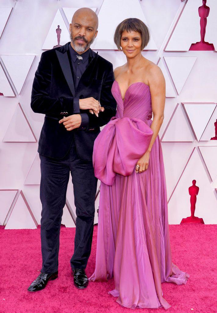 <p>The couple walked the red carpet together looking chic, with Berry wearing a pink gown and her partner wearing a velvet tuxedo jacket.</p>