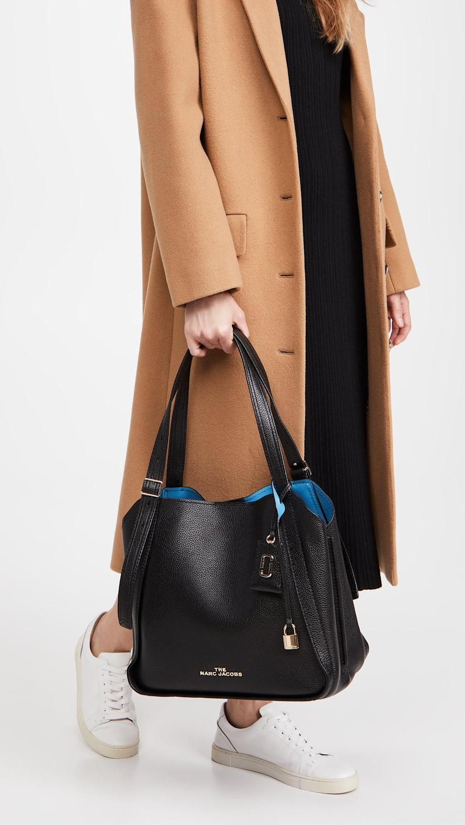 <p>This <span>Marc Jacobs The Director Tote Bag</span> ($450) is two-toned, which makes it a bit more unique.</p>