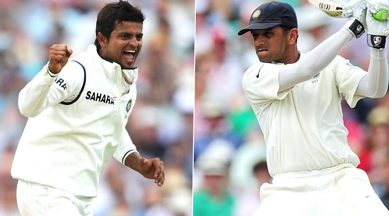 Suresh Raina in Awe of Rahul Dravid's Fielding Heroics After Watching Video Montage of Former Indian Captain's Great Catches Shared By Harbhajan Singh