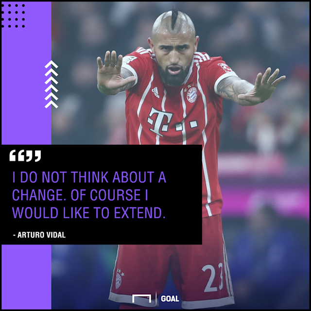 The Chilean midfielder has seen his future at the Allianz Arena called into question on a regular basis, but has reiterated his happiness in Germany