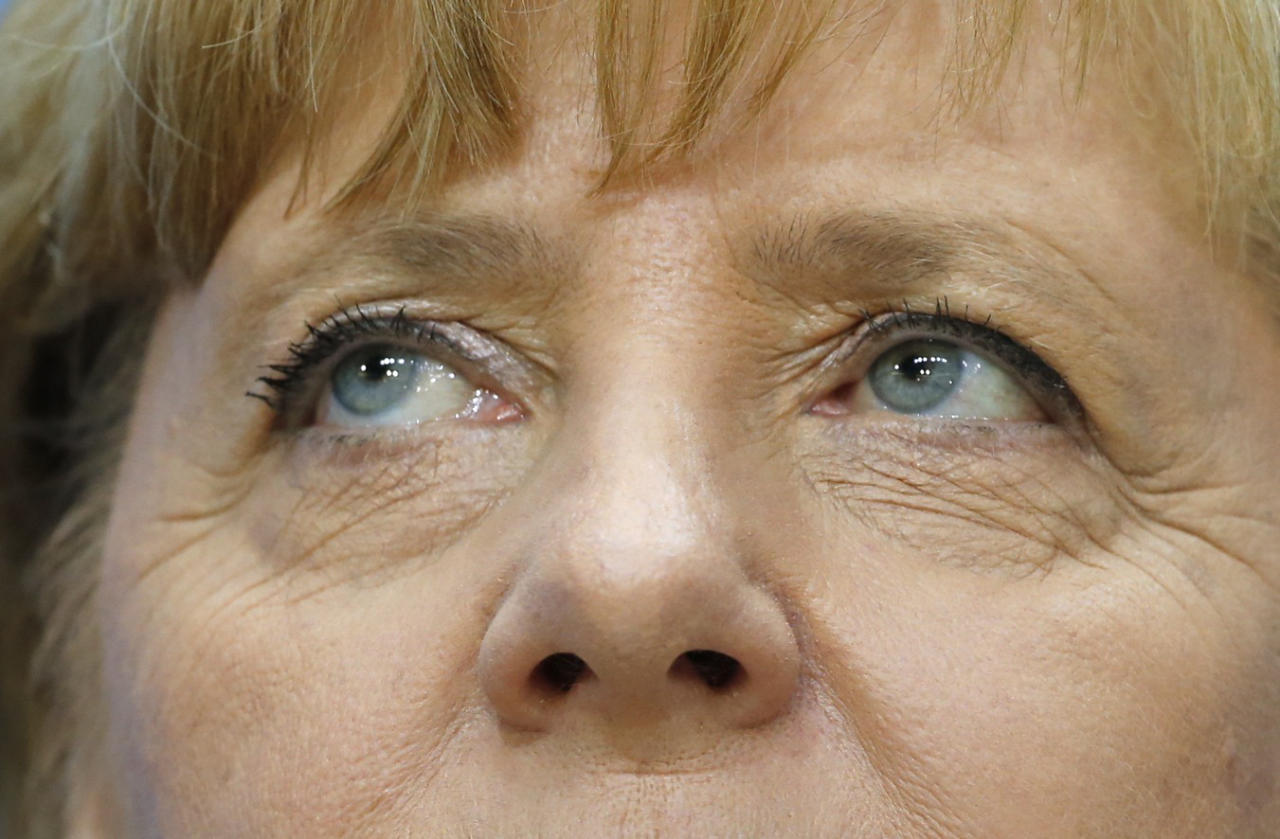 German Chancellor Merkel holds news conference after CDU party board meeting in Berlin