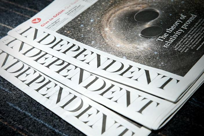 The Independent was set up by three former journalists in 1986 and became known for its eye-catching, campaigning front pages and emphasis on photos (AFP Photo/Adrian Dennis)