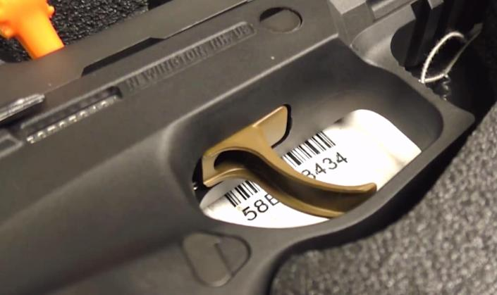 a picture of the SIG P320 upgraded trigger