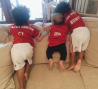 <p>Zoe Saldana and Marco Perego provided their twin boys with a new brother. The pair welcomed son Zen in February. <i>[Photo: Instagram/zoesaldana]</i> </p>