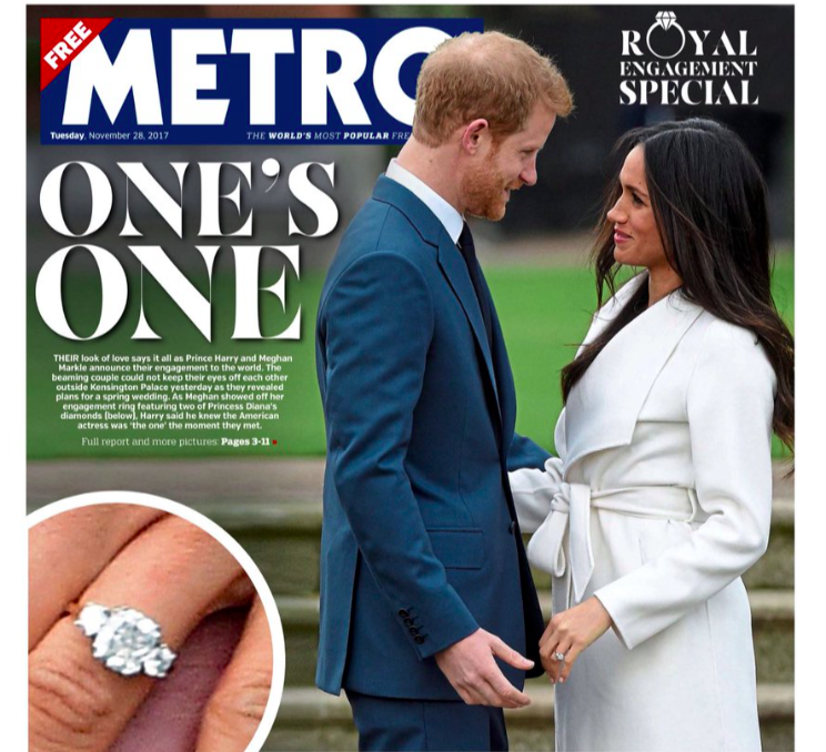 <em>Metro had a Royal Wedding special, declaring Meghan to be 'One's One'</em>