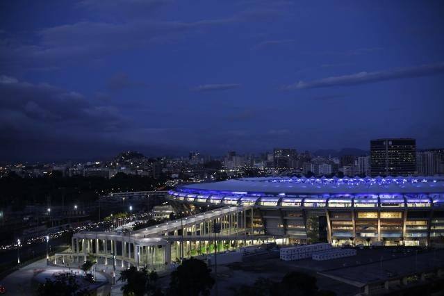 The Maracana stadium, one of the stadiums hosting the 2014 World Cup soccer matches, is pictured in Rio de Janeiro March 27, 2014. REUTERS/Ricardo Moraes (BRAZIL - Tags: SPORT SOCCER WORLD CUP)