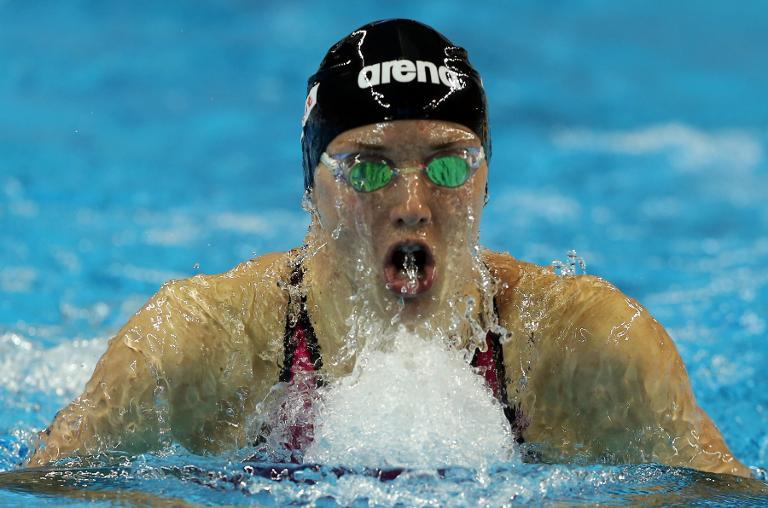 Katinka Hosszu of Hungary competes in the Women's 200m Individual Medley final during the 12th FINA World Swimming Championships (25m) in Doha on December 6, 2014
