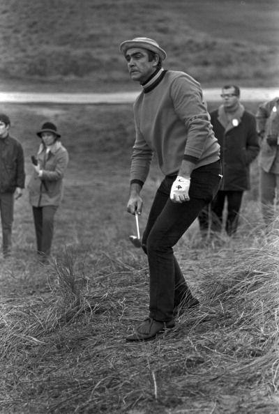 <p>During the Bing Crosby National Pro-Amateur (later renamed the AT&T Pebble Beach National Pro-Am) golf tournament, Connery reacts to his shot from the rough on the course at Cypress Point, Pebble Beach, Florida on January 23, 1969. </p>