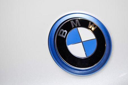 File photo of a BMW emblem at the 2015 New York International Auto Show