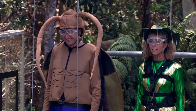 Captain Australia and Cockroach man: Kate and Andy prepare to take on the challenge (ITV)