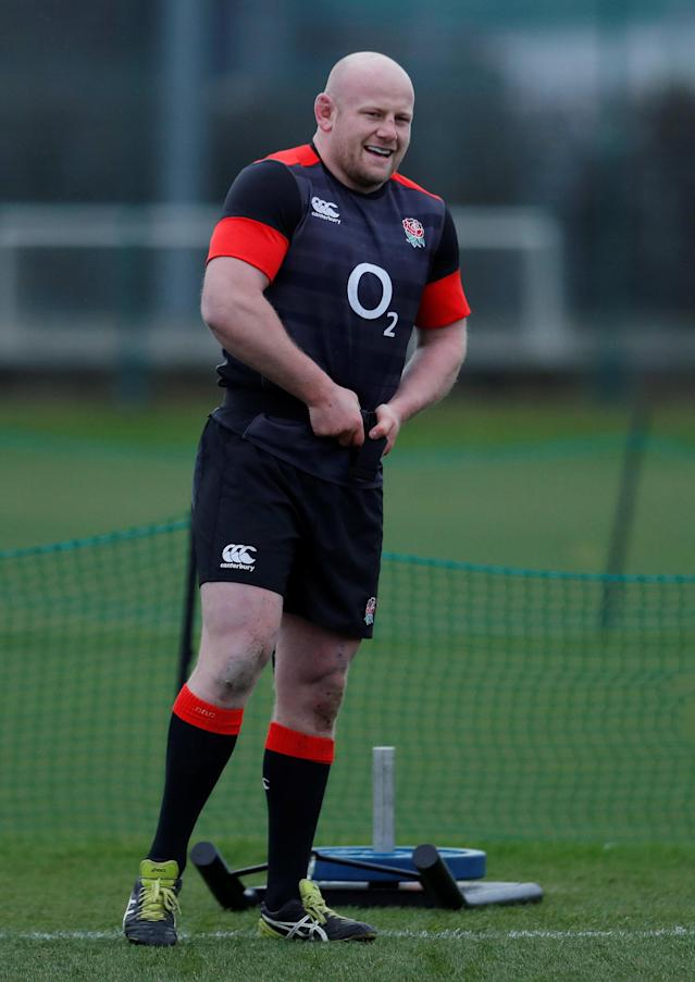 Rugby Union - England Training - Latymer Upper School, London, Britain - February 14, 2018 England's Dan Cole during training Action Images via Reuters/Andrew Couldridge
