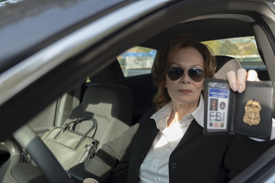 "Laurie Blake (Jean Smart) was a superhero in the 1980s and now is an FBI agent hunting masked vigilantes in ""Watchmen."""