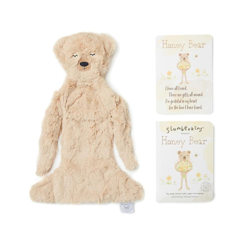 "This gift is not only soft and snuggly (and made of hypoallergenic fill), but the book included helps teach children about gratitude and enjoying all the little gifts that life brings. $42, Goop. <a href=""https://shop.goop.com/shop/products/honey-bear-snuggler-bundle?country=USA"">Get it now!</a>"