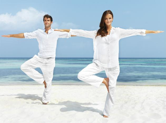 """<b>A sunnier outlook</b> <br>There really is something to the """"happy yogi."""" Doing one hour of asanas—a sequence of standing, sitting and balancing posesóhelped avid posers raise their levels of the brain chemical GABA (low levels are linked with depression) by 27 percent compared with a group who read quietly, a study from Boston University School of Medicine and McLean Hospital reports."""