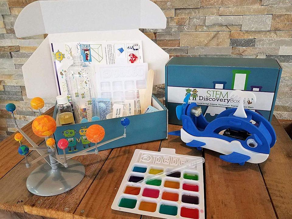 """<p>Finding educational toys for kids of any age can be tricky, so let Amazon handle it for you. The company's STEM club curates <strong>science, engineering, technology, and math toys based </strong>on your child's age and ships them right to your door. </p><p><em>$18 per box<br>Ages: 3–13</em></p><p><a class=""""link rapid-noclick-resp"""" href=""""https://www.amazon.com/STEM-Club-Toy-Subscription-year/dp/B01M71IUZ7?tag=syn-yahoo-20&ascsubtag=%5Bartid%7C10055.g.5093%5Bsrc%7Cyahoo-us"""" rel=""""nofollow noopener"""" target=""""_blank"""" data-ylk=""""slk:BUY NOW"""">BUY NOW</a></p>"""