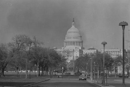 April 6, 1968: Smoke rises near the U.S. Capitol during the riots that followed the assassination of Martin Luther King, Jr. REUTERS/Library of Congress/Handout via Reuters