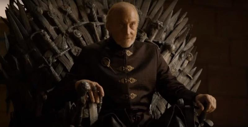 Charles Dance has revealed he was rooting for Tyrion Lannister to end up on the Iron Throne at the end of 'Game of Thrones' (HBO/YouTube)