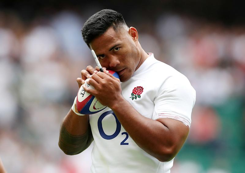 Rugby Union - Rugby World Cup warm-up match - England v Wales - Twickenham Stadium, Twickenham, Britain - August 11, 2019 England's Manu Tuilagi with ball after the match Action Images via Reuters/Peter Cziborra