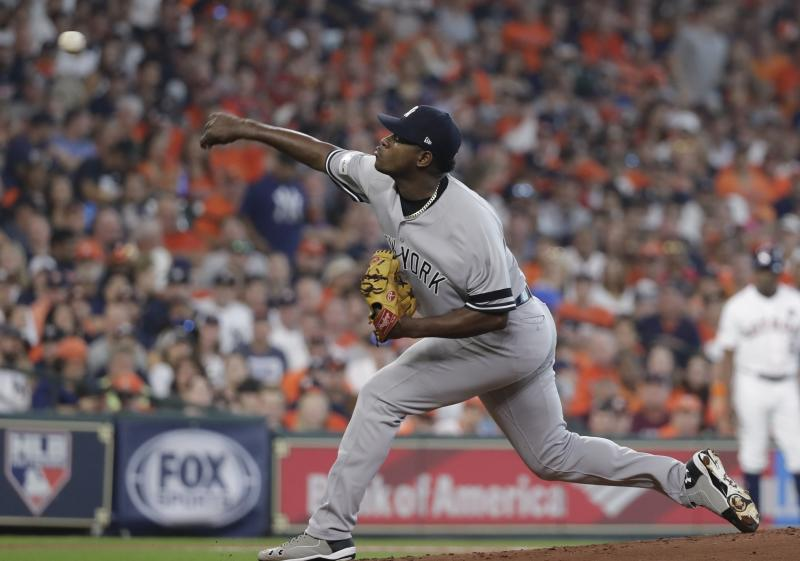 Yankees pitcher Luis Severino had a breakout season after a disappointing 2016. (AP)