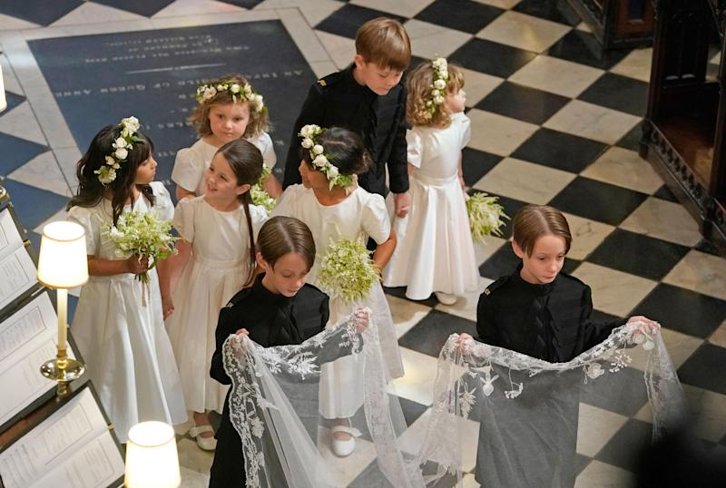 Bridesmaids and page boys at Meghan and Harry's wedding (AFP/Getty Images)