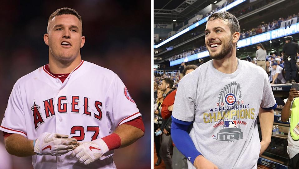 Mike Trout and Kris Bryant, your 2016 MVPs. (Getty Images)