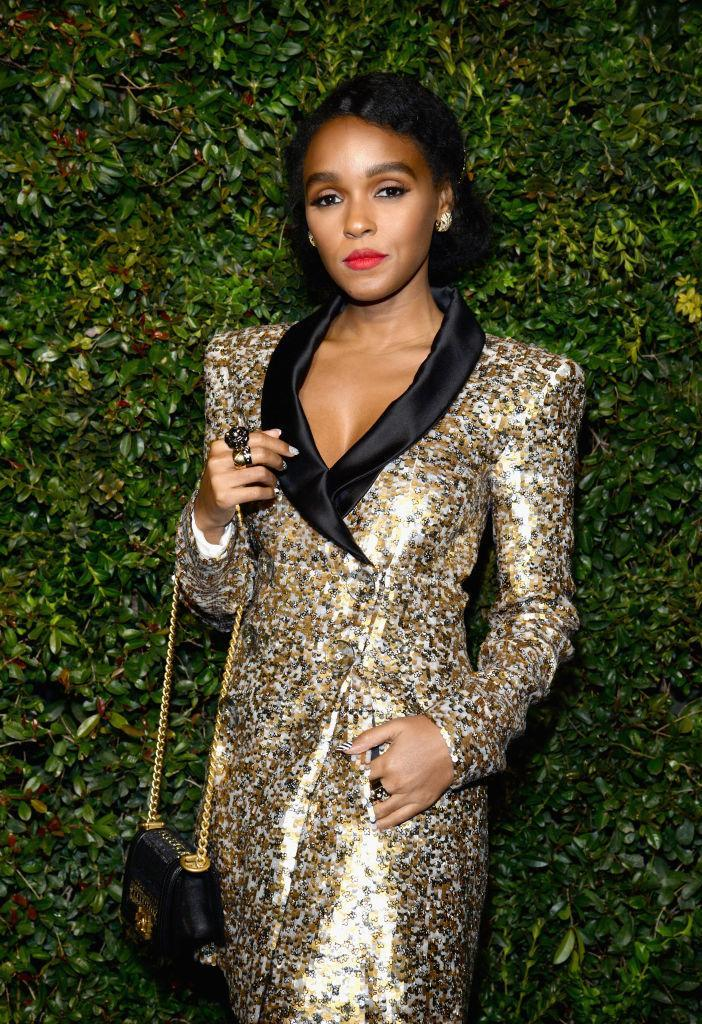 <p>Janelle Monae is solid gold in Chanel (Photo: Getty images) </p>