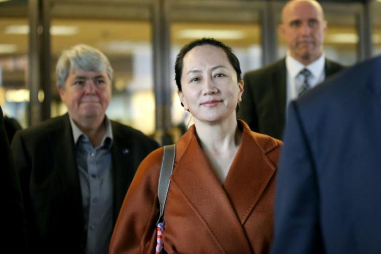 Huawei chief financial officer Meng Wanzhou pictured leaving the British Columbia Superior Court on September 23, 2019 in Vancouver, Canada (AFP Photo/Karen Ducey)