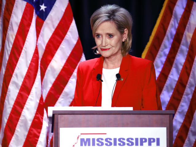 Major League Baseball recently donated $5,000 to Sen. Cindy Hyde-Smith (R-Miss.), whose racially tinged remarks about lynching and voter suppression have become the focal point of her run-off election Tuesday against Democratic challenger Mike Espy. (AP)