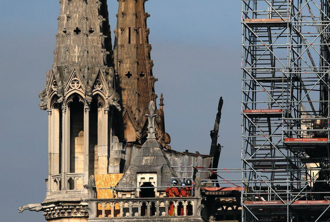 Work is underway to get the Notre Dame restored to its former glory (PA)