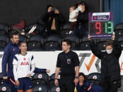 Tottenham Hotspur's Alex Morgan comes on as a substitute during the English Women's Super League soccer match between Tottenham Hotspur and Reading at the Hive stadium in London Saturday, Nov. 7, 2020. Morgan came on as a 69th minute substitute, the game ended in a 1-1 draw. (AP Photo/Alastair Grant)