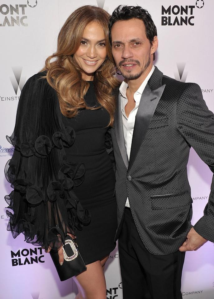 """After 10 years of marriage and welcoming twins Max and Emme together, Lopez and Anthony announced that they were going their separate ways in July 2011.  The pair tied the knot in June 2004 in a secret ceremony, having dated just six months before saying, """"I do."""" After their nuptials, the pair toured together and even starred in a film, <em>El Cantante,</em>opposite one another.  The pair said in a statement to <a href=""""https://people.com/music/jennifer-lopez-marc-anthony-split/"""">PEOPLE</a> at that time, """"We have decided to end our marriage. This was a very difficult decision. We have come to an amicable conclusion on all matters. It is a painful time for all involved and we appreciate the respect of our privacy at this time.""""  The pair are now <a href=""""https://people.com/music/from-co-parents-to-colleagues-a-timeline-of-jennifer-lopez-and-marc-anthonys-relationship/?slide=6369766#6369766"""">extremely friendly</a>, collaborating, performing together and co-parenting post-split."""