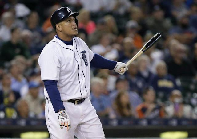 "Are the Tigers really considering dealing <a class=""link rapid-noclick-resp"" href=""/mlb/players/7163/"" data-ylk=""slk:Miguel Cabrera"">Miguel Cabrera</a>? (Getty Images/Duane Burleson)"