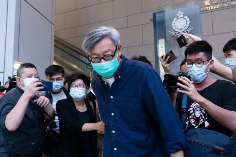 Hong Kong newspaper Apple Daily's executives were arrested and its assets frozen, forcing the publication to close, under China's broad national security law imposed on the city a year ago