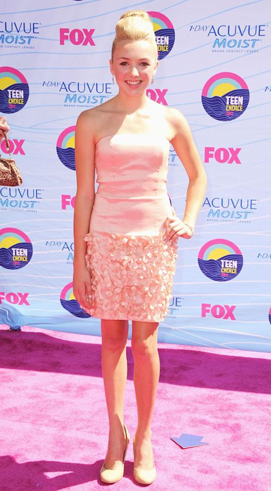 Actress Peyton List arrives at the 2012 Teen Choice Awards at Gibson Amphitheatre on July 22, 2012 in Universal City, California.