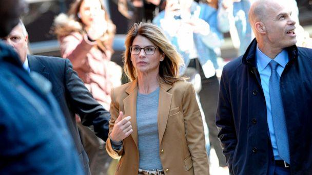 PHOTO: In this file photo taken on April 3, 2019 Actress Lori Loughlin arrives at the John Joseph Moakley United States Courthouse in Boston. (Joseph Prezioso/AFP via Getty Images, FILE)