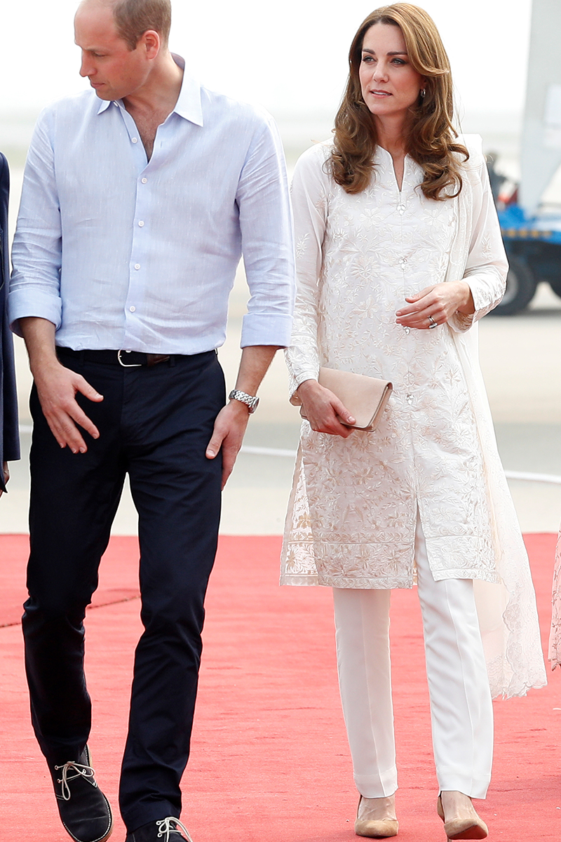 <p>Here's Kate sporting a practically indistinguishable combo on the Duke and Duchess of Cambridge's official tour of Pakistan in October 2019. </p>