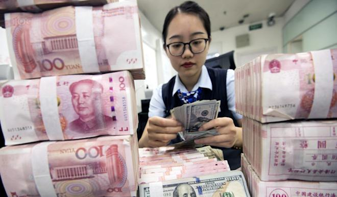 Yuan deposits with Hong Kong banks stood at 644.1 billion yuan in August compared to a peak of more than 1 trillion yuan in December 2014. Photo: EPA-EFE