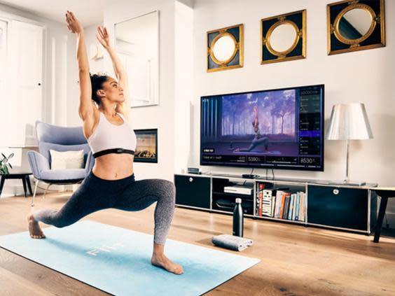 If you don't have a big TV to connect your yoga classes too, use your iPad or phone propped up on the mat instead (FIIT)