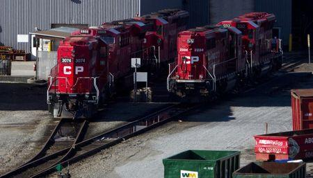 The Canadian Pacific railyard is pictured in Port Coquitlam.