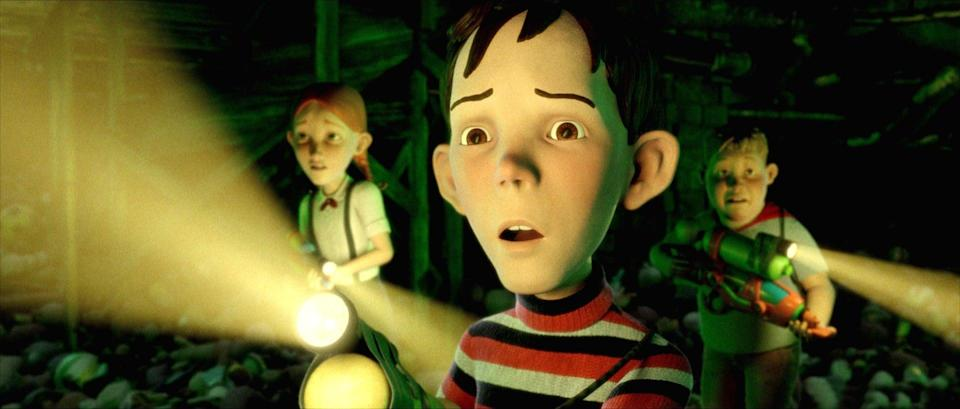 """<p><strong>Rating:</strong> PG</p> <p><strong>Age of kids that can handle it:</strong> 10 and up</p> <p><strong>Why it's scary:</strong> Although this one's a cartoon, it's still totally creepy. The old man who lives across the street is seriously terrifying, and the """"monster"""" house itself is nightmarish - it has sharp teeth and everything! (The kids are the picture of exactly who you don't want your own children to turn into - they break and enter, they approach a ton of unsafe situations with reckless abandon, they light sticks of dynamite, and they steal tons of cough medicine to """"sedate"""" the house.)</p> <p><span>Watch <b>Monster House</b> on Amazon Prime Video now!</span></p>"""