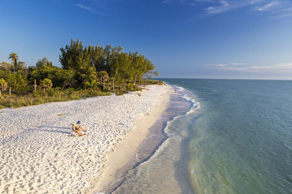 """<p>Certainly by now, almost everyone knows that <a href=""""https://sanibel-captiva.org/"""" rel=""""nofollow noopener"""" target=""""_blank"""" data-ylk=""""slk:Sanibel Island"""" class=""""link rapid-noclick-resp"""">Sanibel Island</a> is the undisputed shelling capital of North America. Every collector's dream, you don't have to go all the way to the Caribbean to discover hundreds of colorful sea shells. On 15 miles of beaches that wrap around this isle in the Gulf of Mexico, there are more than 250 different kinds of shells. It's such a popular pastime, that the act of bending at the waste to retrieve a shell is referred to as the """"Sanibel Stoop.""""</p>"""