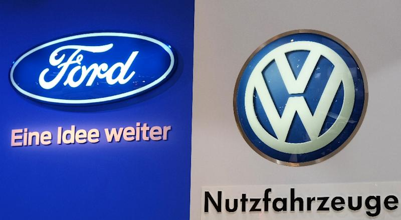 Negotiations have been reportedly ongoing for months over a Ford-VW partnership to develop autonomous technologies (AFP Photo/Patrik STOLLARZ)