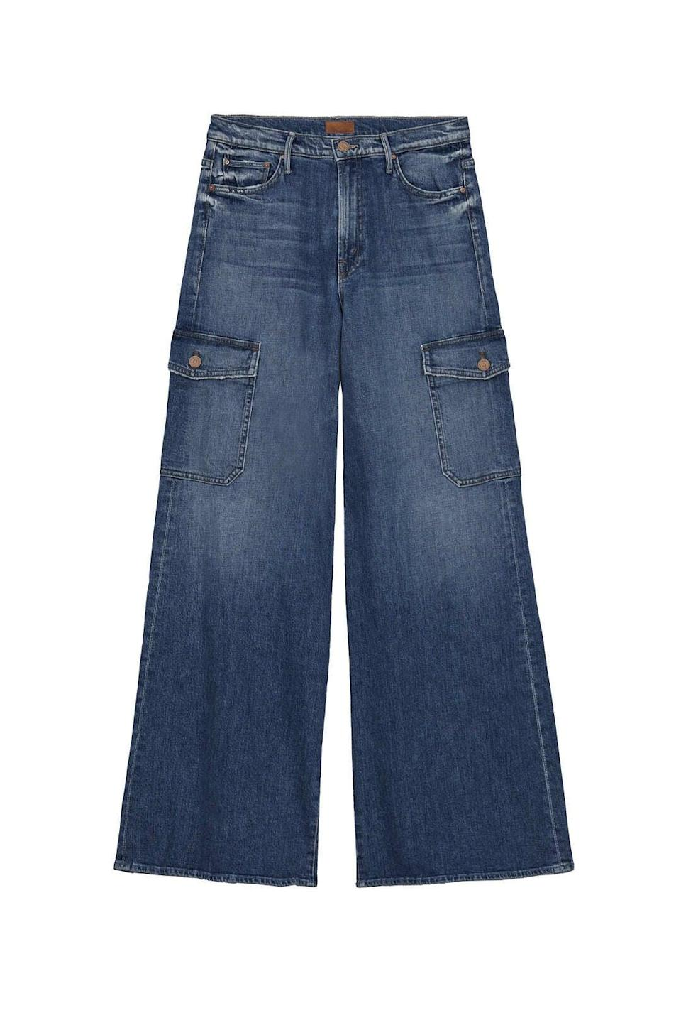 <p>One of the softest denim I've ever worn. These <span>Mother Denim The Undercover Cargo</span> ($288) are wide leg and have cargo vibes to them with outside pockets. </p>