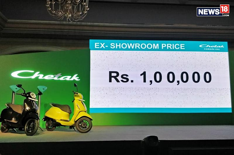 Bajaj Chetak Electric Scooter Launched in India at Rs 1 Lakh, Gets 95 Km Battery Range